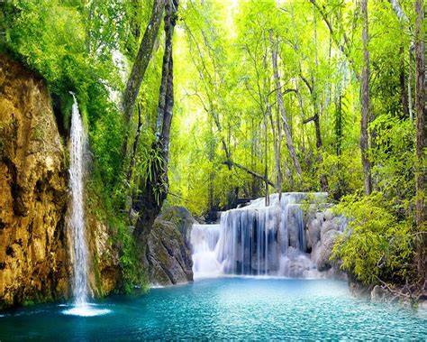 beibehang  wallpaper hd waterfall scenery pictures wall