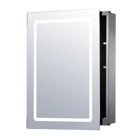 homcom illuminated mirror cabinet led bathroom wall