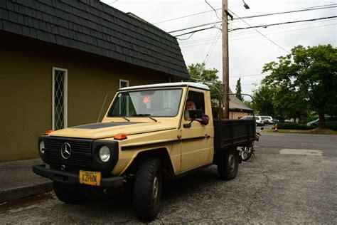 mercedes diesel truck parked cars 1980 mercedes 300gd truck