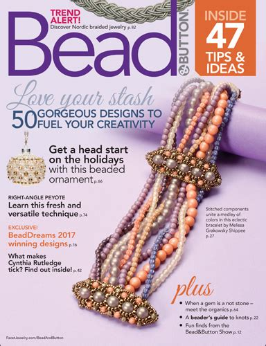 bead and button magazine about bead button magazine facet jewelry