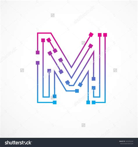 letter m layout stock vector abstract letter m logo design template
