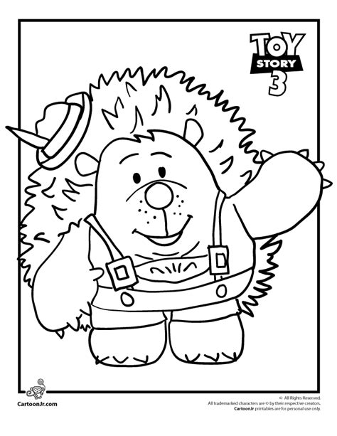 mr pricklepants toy story coloring page woo jr kids