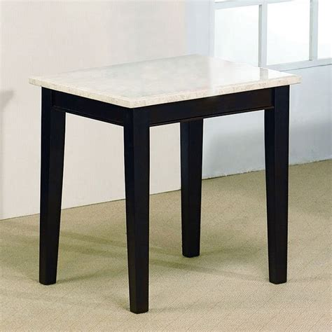 two tone end tables two tone contemporary end table imports furniturepick
