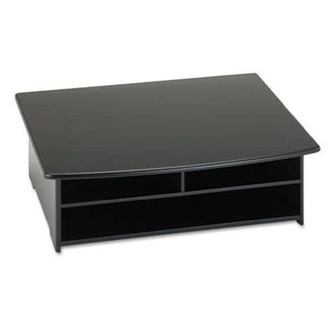 printer paper storage 2 shelf printer stand with paper holder in black