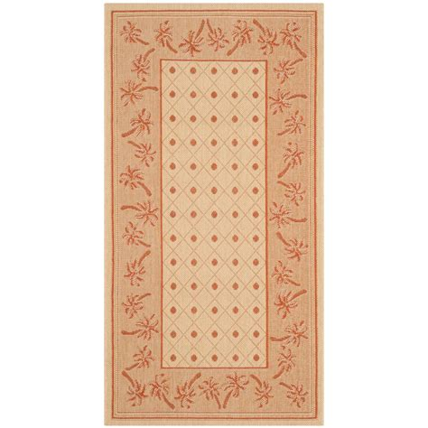 safavieh cy5146a courtyard indoor outdoor area rug rust lowe s canada safavieh courtyard ivory rust 2 ft 7 in x 5 ft indoor outdoor area rug cy5148j 3 the home depot