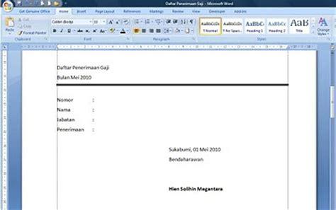 format slip gaji word hiens megantara physics cara membuat mail merge pada