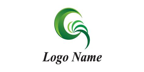 create free logo design and download green moon logo company name logo design download with