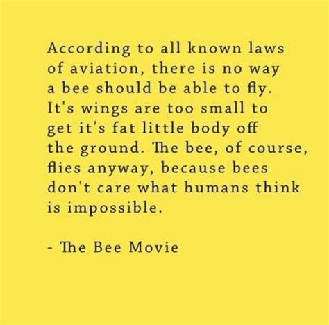 Bee Movie Script Meme - bee movie script according to all known laws of aviation