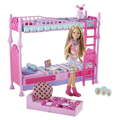 barbie bedroom set barbie sisters sleeptime bedroom and stacie doll set a