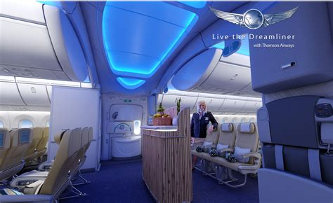 Thomson 787 Dreamliner Interior by Dreamliner Jets In To Farnborough Airshow