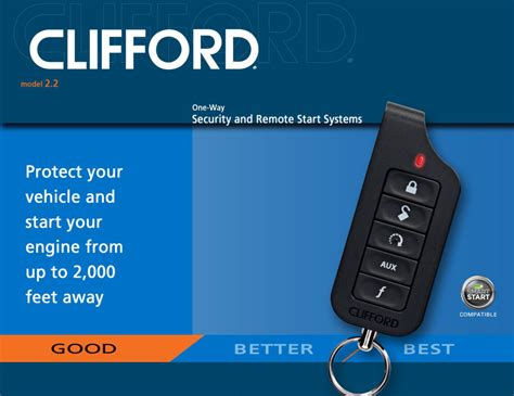Alarm Mobil Merk Clifford clifford security with remote start autos post
