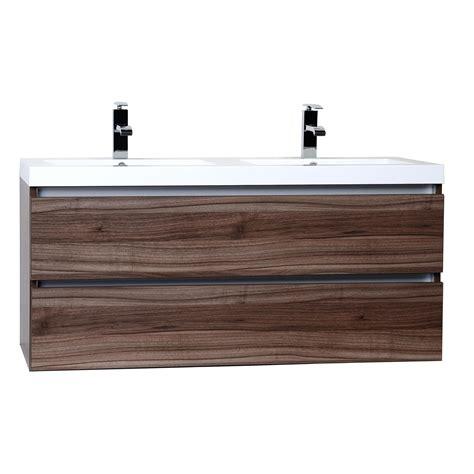 Buy Valencia 48 Quot Wall Mount Double Bathroom Vanity Set Walnut Bathroom Vanity
