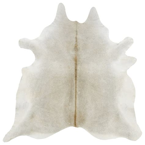 Gray Beige Solid Cowhide Rug Contemporary Novelty Rugs Modern Cowhide Rug