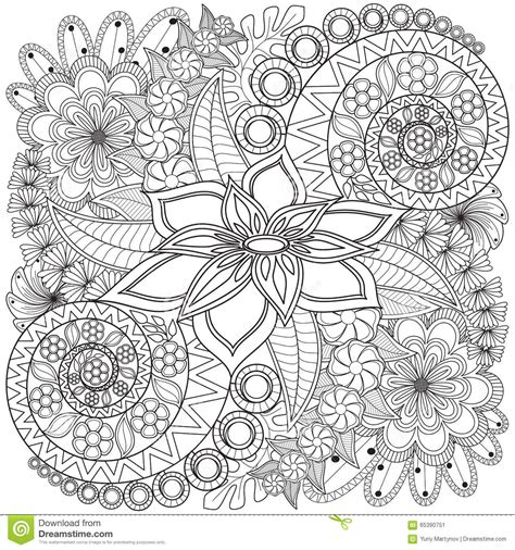 flower background coloring page flower swirl coloring page pattern stock image image of