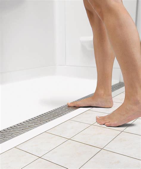 threshold bathroom delta universal design zero threshold shower bases