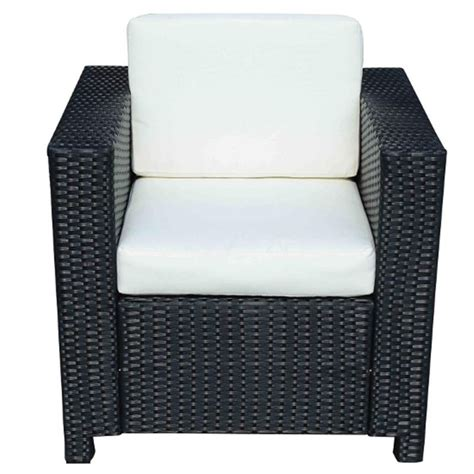 Single Sofa Chair Sale by Outsunny Rattan Single Sofa Chair Black Aosom Co Uk