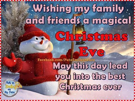 wishing  family  friends  magical christmas eve   day lead
