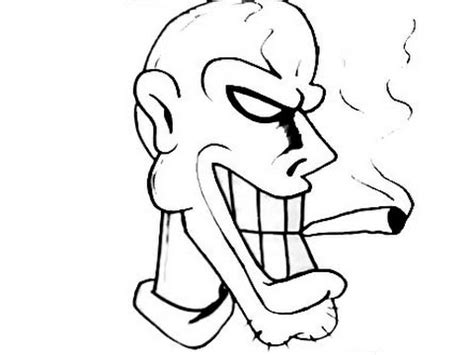 how to draw graffiti character smoking cigarrette dj