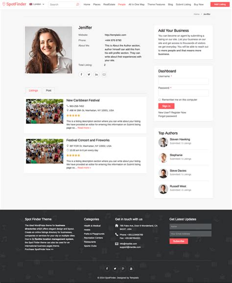 User Profile Css Template Images Free Templates Ideas User Profile Website Template Free