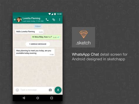 best android chat android whatsapp chat ui sketch designermill