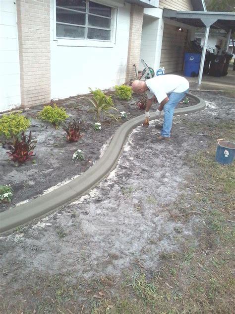 curb appeal concrete edging concrete edging process curb appeal
