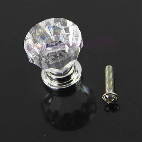 acrylic clear door pull knob drawer cabinet cupboard