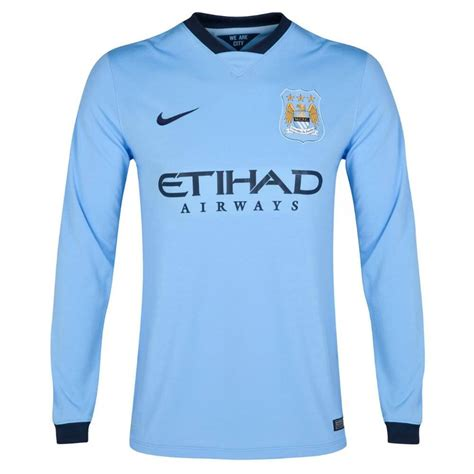 city home 2014 2015 manchester city sleeve home jersey 2014 2015