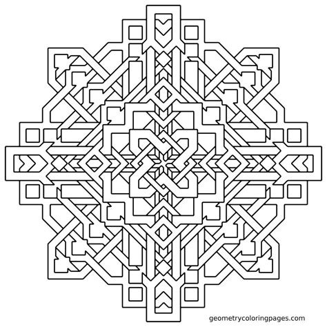hard coloring pages to color online get this hard geometric coloring pages to print out 04523