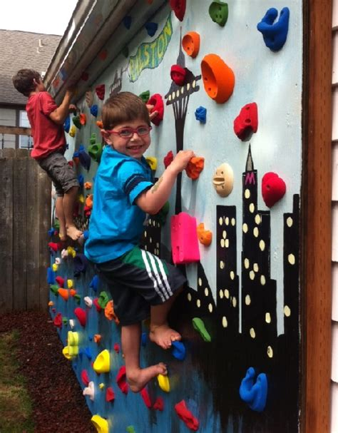 diy outdoor climbing wall diy outdoor rock climbing wall do it yourself fun ideas