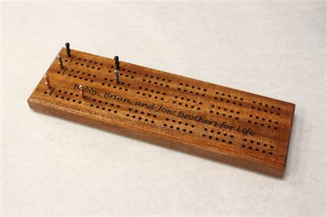 Crib Boards by Engraved 3 Track Cribbage Board