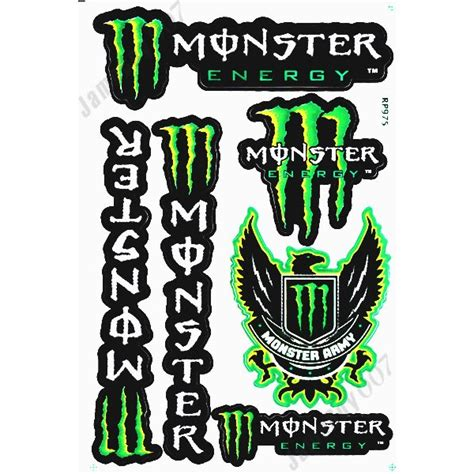 Monster Energy Sticker Auto by Mrs0116 Vert M0nster Energy Autocollants Stickers