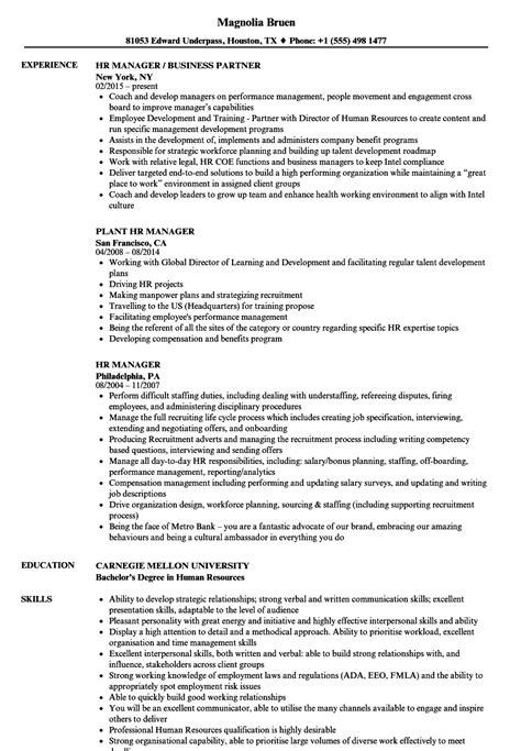 resume sample for hr manager ideal vistalist co