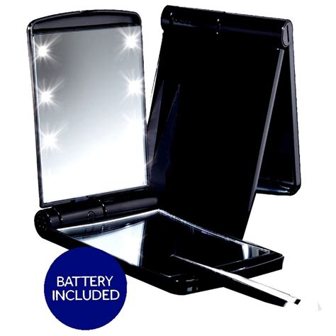 travel lighted makeup mirror deluxe led lighted cosmetic makeup mirror travel compact