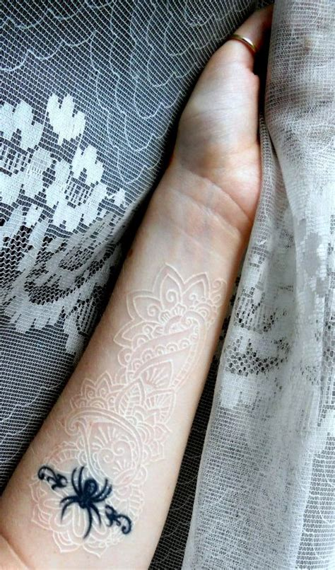 white lace tattoo designs white ink lace by glorifieddoorbell on deviantart