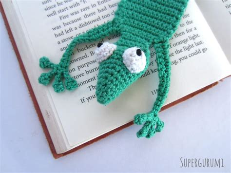 crochet bookmark amigurumi crochet gecko bookmark quot book gecko quot supergurumi