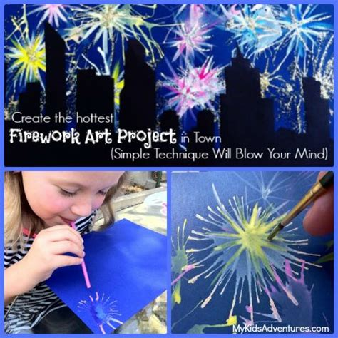 spray paint fireworks how to paint with straws fancy fireworks