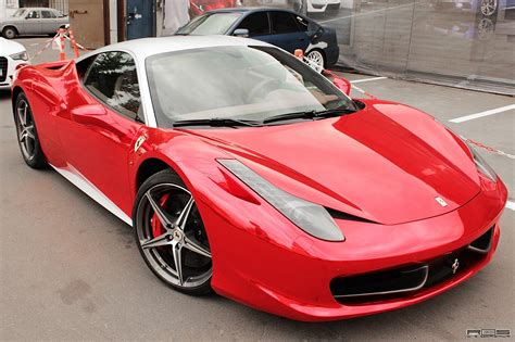Ferrari 458 Red Chrome From Russia