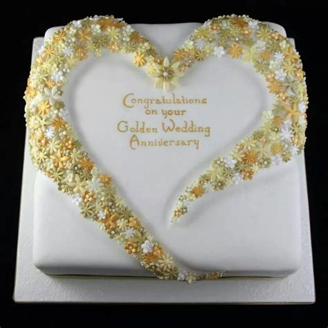 Wedding Anniversary Cake Ideas by 1000 Ideas About Golden Anniversary Cake On Pinsco