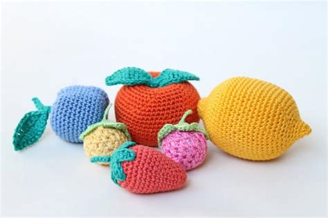 Handmade Toys - crochet fruits play food crochet food soft toys