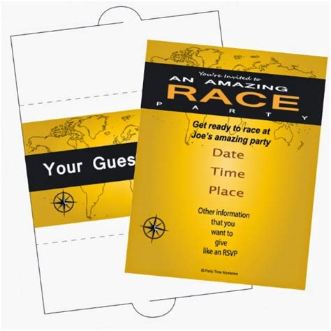 Party Time Mysteries Friday Freebie Amazing Race Party Invitation Amazing Race Editable Templates Free