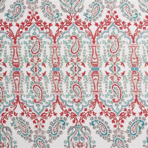 Coral And Aqua Curtains Aqua And Coral Indian Devi Shower Curtain World Market