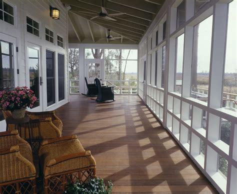 screen porch Farmhouse Porch charleston by Frederick Frederick Architects
