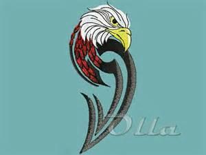 Eagle free machine embroidery design