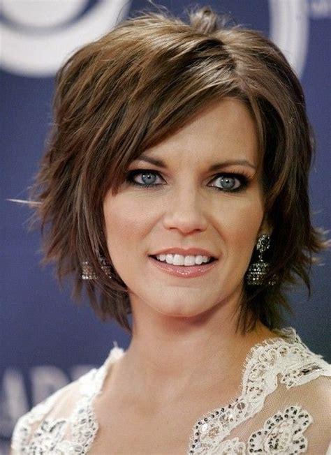 thick fine hairstyles short layered hairstyle for thick hair