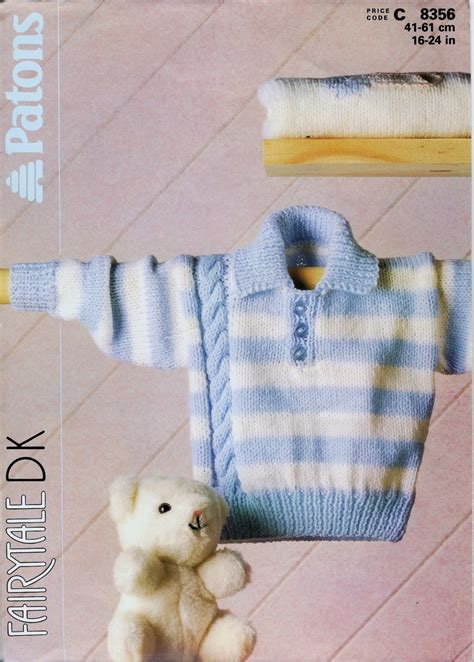 patons knitting patterns patons 8356 knitting pattern baby s striped sweater with