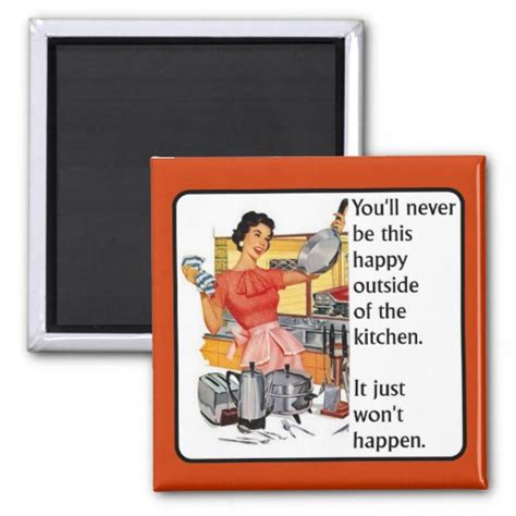 Kitchen Jokes One Liners Kitchen Happy Magnet Humor Zazzle