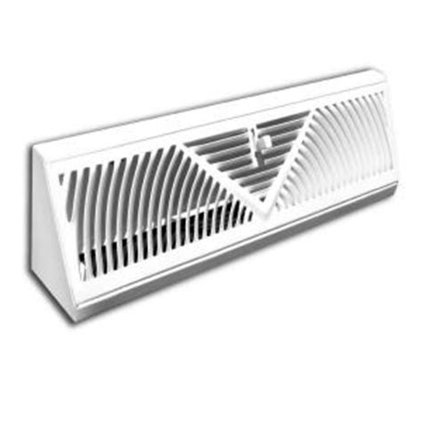 truaire 18 in baseboard diffuser supply h118sw the home