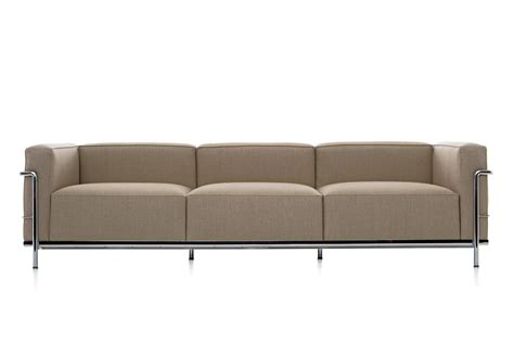lc3 sofa lc3 3 seater sofa by cassina stylepark