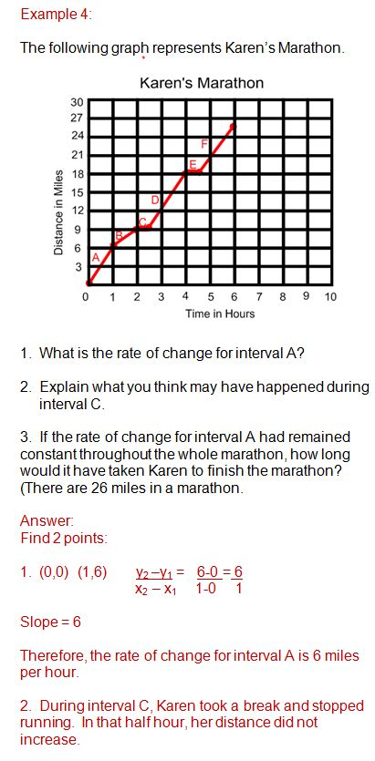 Rate Of Change And Slope Worksheet With Answers by Rate Of Change Ms Osawaru