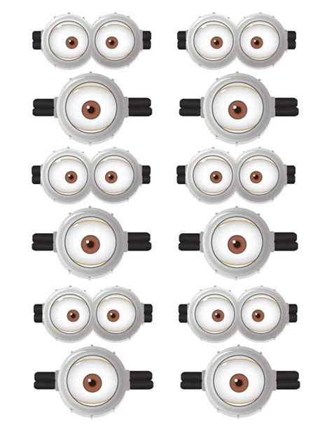 printable minion eyes template the 25 best minions eyes ideas on pinterest